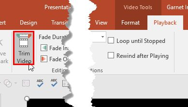 #Trim_Video_Clips in #PowerPoint_2016 for Windows