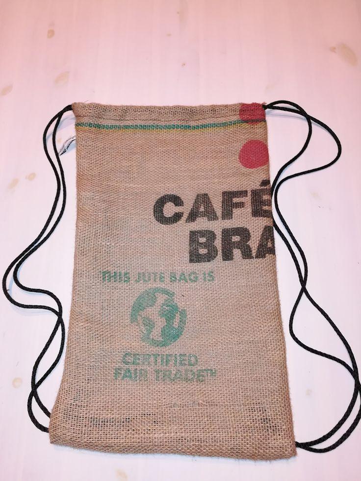 Rucksack Aus Kaffeesack Säckchen Upcycling Design Jute