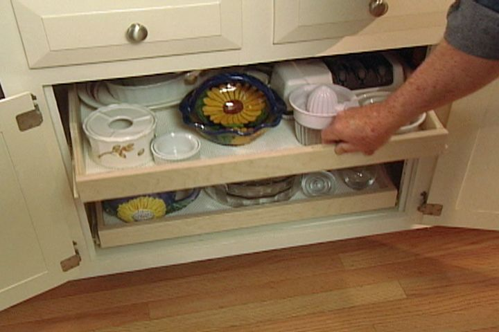 how to make pull-out shelves for kitchen cabinets #housecalls