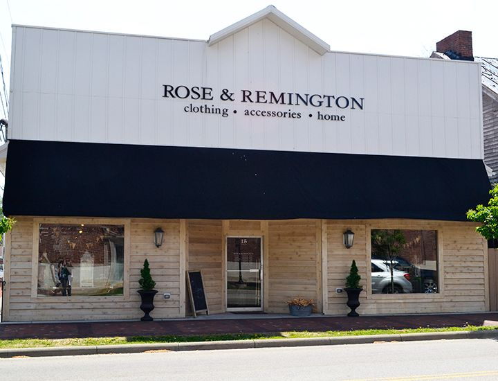 Located in downtown Lebanon, Rose & Remington is an eclectic fashion boutique specializing in women's clothing and accessories.