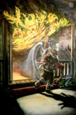 fire,firefighter ,guardian angel, - Jim Murphy