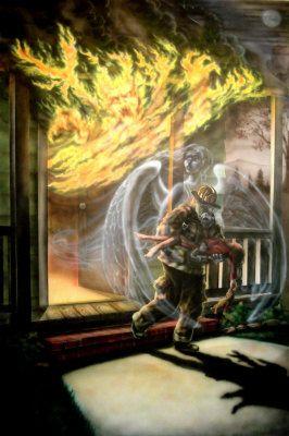 fire,firefighter ,guardian angel, - Jim Murphy
