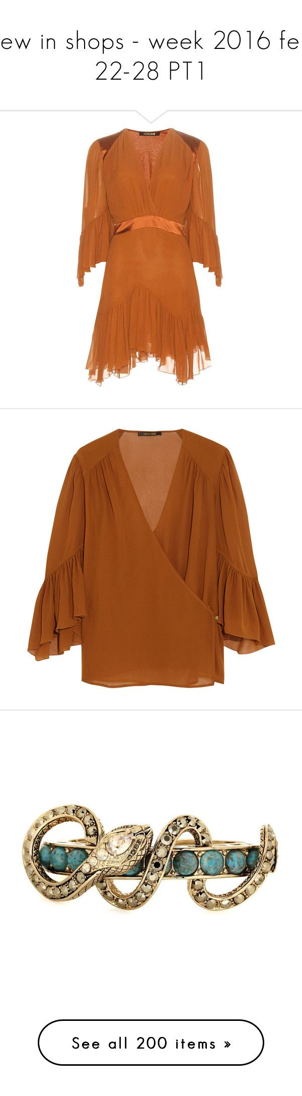 """""""new in shops - week 2016 feb 22-28 PT1"""" by aaliyah ❤ liked on Polyvore featuring dresses, brown, orange mini dress, mini dress, brown dress, silk chiffon dress, short dresses, tops, blouses and shirts"""
