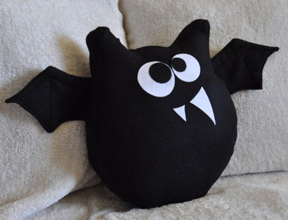 Bat Pattern PDF Jugular the Bat Plush Pillow by bedbuggspatterns