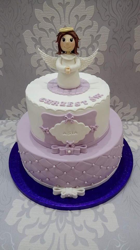 Tort na chrzciny dla dziewczynki