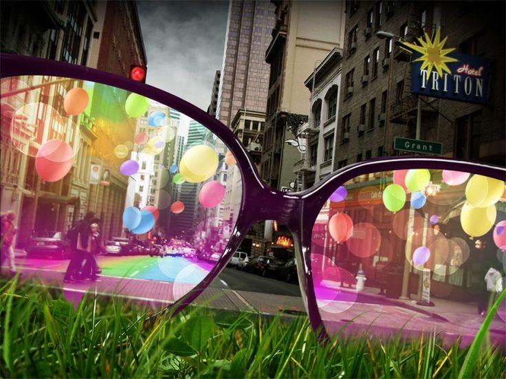 World through pink glasses