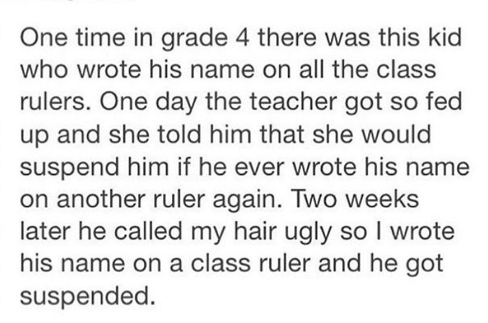 Revenge has the fourth grade | lol tumblr