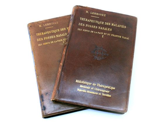 Antique medicine books . Nasal cavities diseases . M. Lermoyez . 1896 . France . Rare . Vintage 1890s