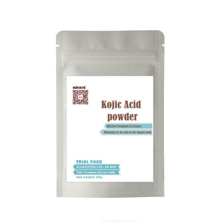 10g cosmetic grade 99% Kojic Acid powder skin whitening skin lightening