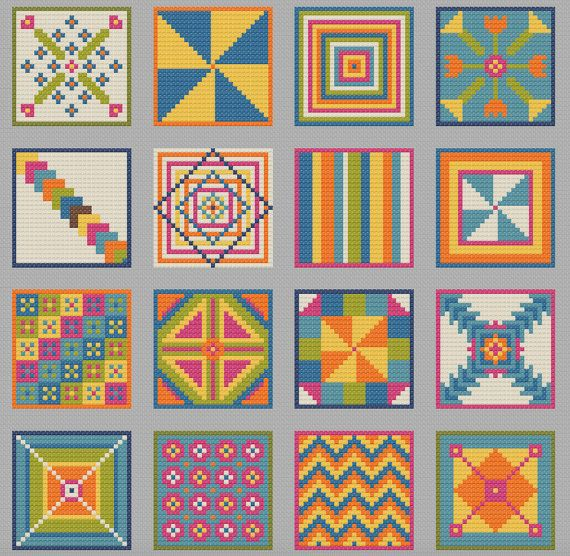 Quilt Patterns Cross Stitch : 586 best images about Korssting on Pinterest Hand embroidery, Cross stitch and Cross stitch charts