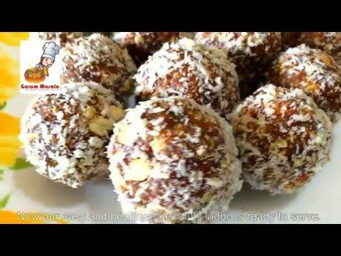 Dates and nuts ladoo / Healthy Ethapazham Laddu / Snack / Iftar Dish - YouTube