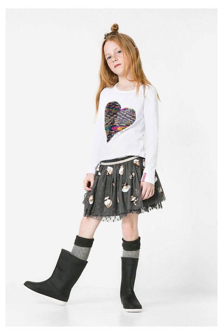 Mädchen-T-Shirt mit Wende-Pailletten | Desigual.com B