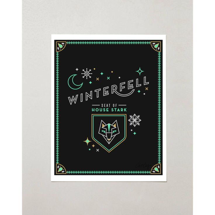 PRODUCTS :: LIVING AND DESIGN :: Accessories and Decorations :: Prints :: Winterfell – Game of Thrones Castle Tribute
