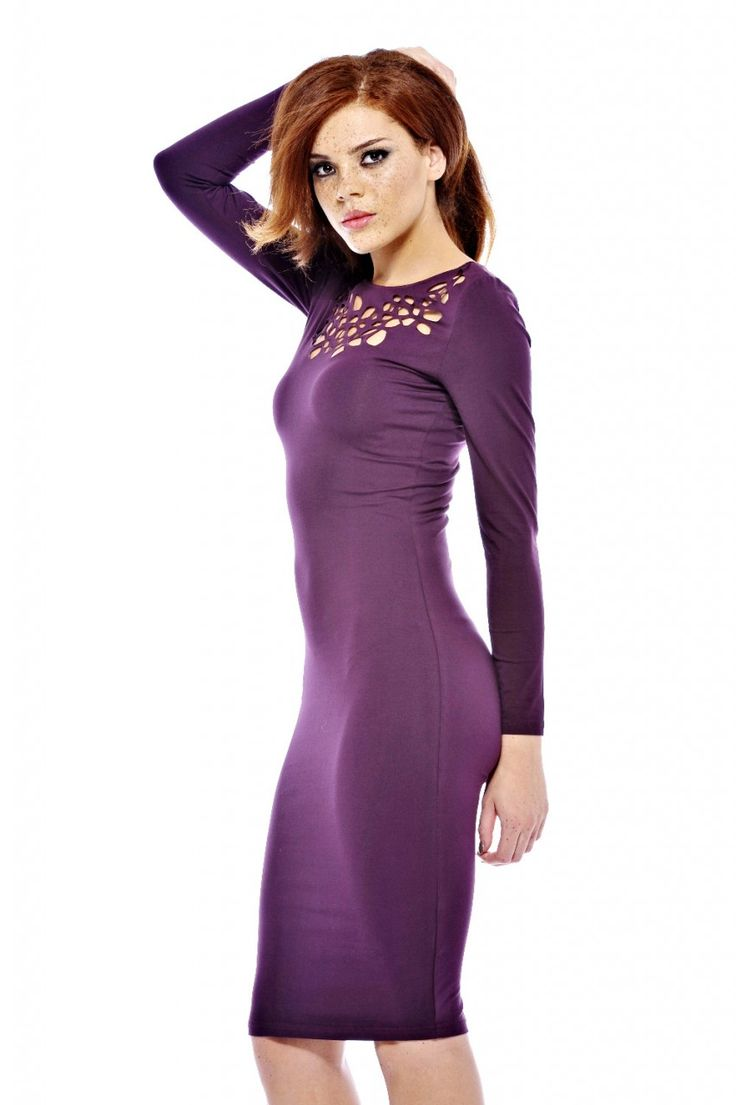 long-sleeve-purple-dress- | Long Sleeve Dresses | Pinterest ...