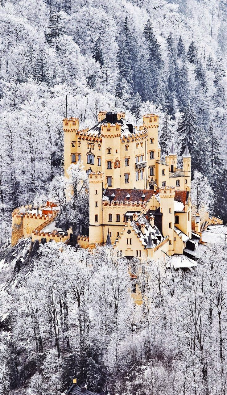 Interesting and Gorgeous Places: The Scenic Castle of Hohenschwangau in Germany. Bavaria