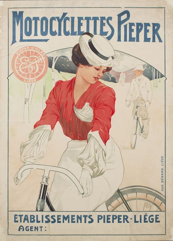 Cycles Pieper ~ Émile Berchmans | #Bicycles #Pieper #Belgium