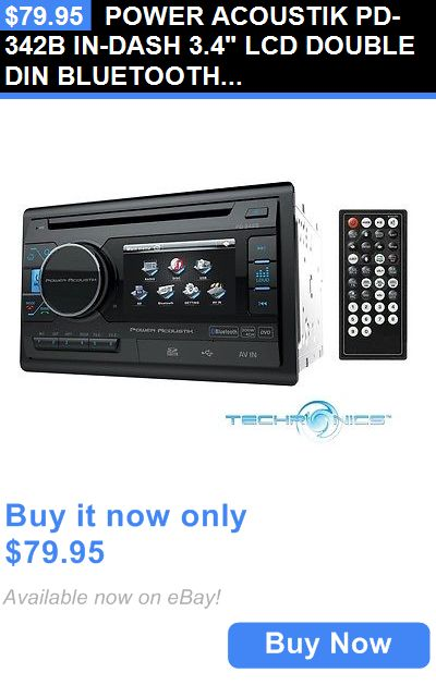 Vehicle Electronics And GPS: Power Acoustik Pd-342B In-Dash 3.4 Lcd Double Din Bluetooth Dvd Cd Car Stereo BUY IT NOW ONLY: $79.95