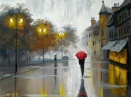 Resultado de imagen para pinturas o imagenes con paraguas