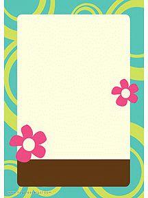A imprimer, un papier à lettre avec des fleurs couleur fushia