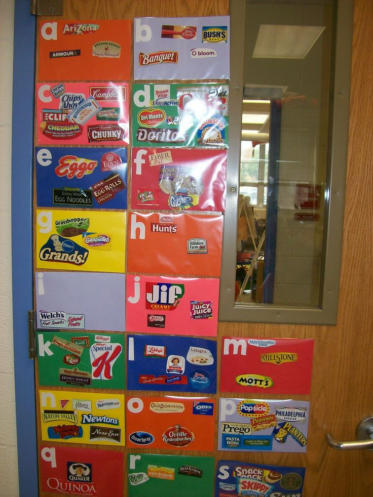 What authentic literacy! Ask kids to find and bring in 10 labels, then sort them into the alphabet! FUN! - thinking about adding this to our Alphabet book creation next week!