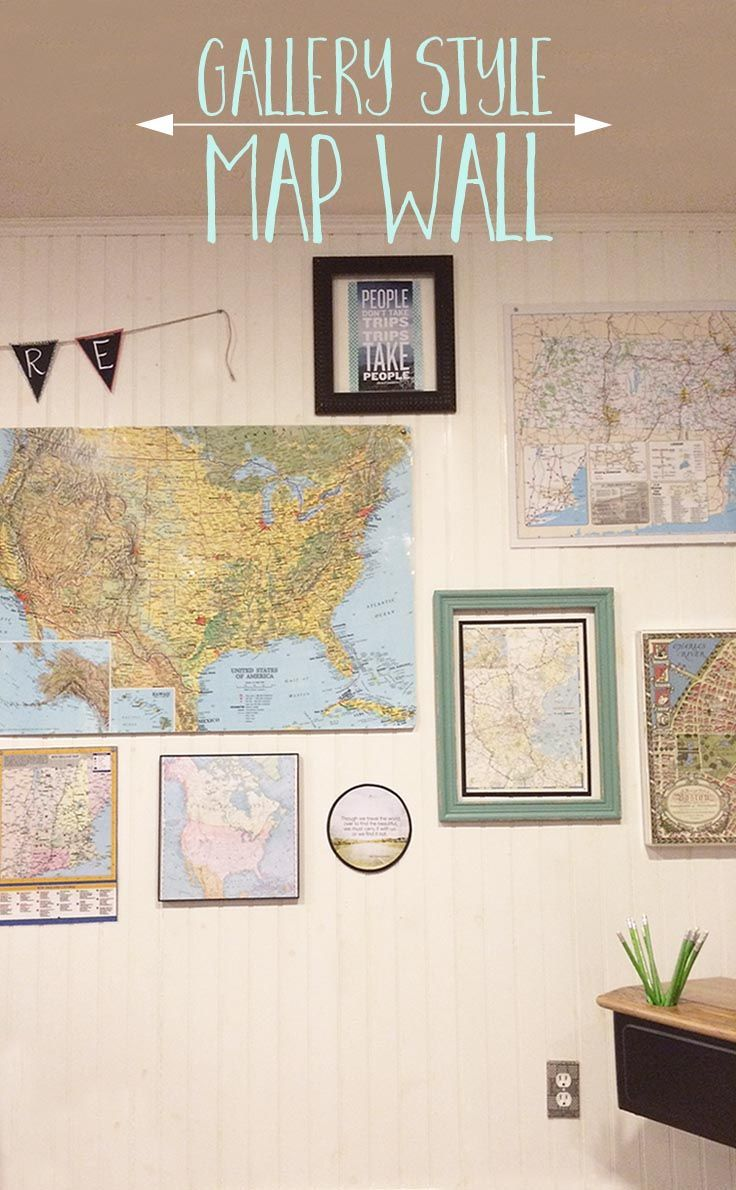 Create a gallery style map wall thatu0027s