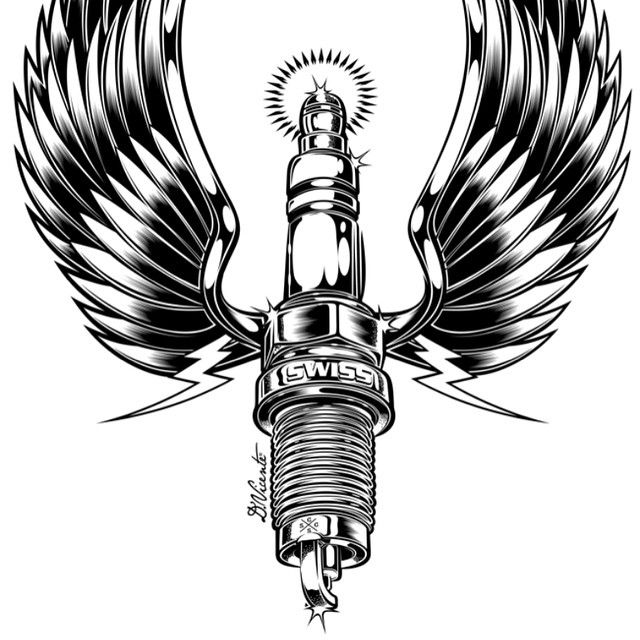 Tattoo as well Motorcycle Clutch Cable For Yamaha Warrior 350 1987 2004 additionally Fast And Furious Grey Ink Bike Piston Skulls Tattoo Design as well Cylinder Crankcase 2 as well . on spark plug sleeve
