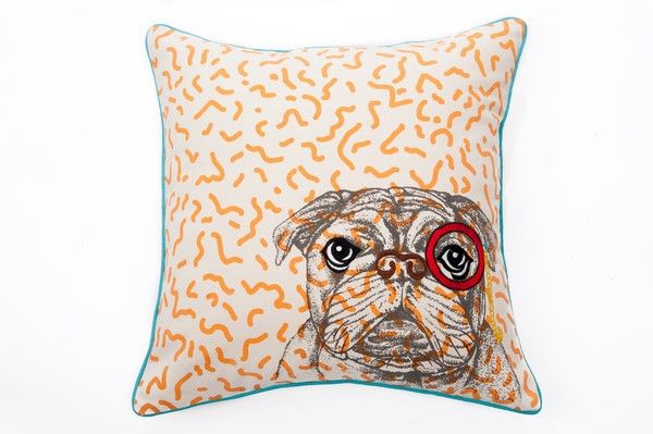 Check out this bulldog throw pillow! More to see over at armchairmuse.com. We have a wide range of designs and textures!