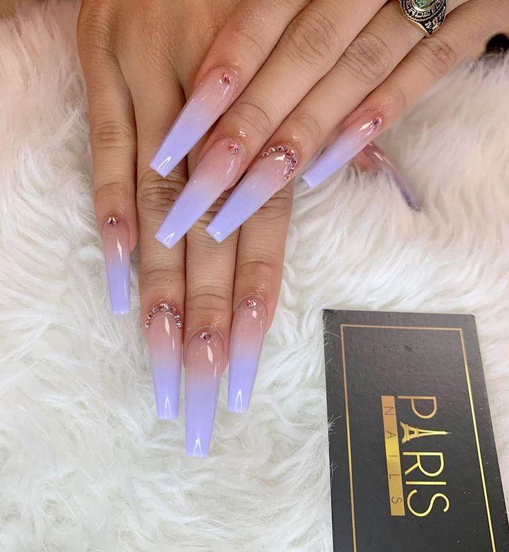beautiful purple nails   – CLAWS