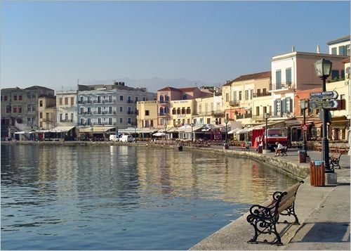 Chania town in Crete
