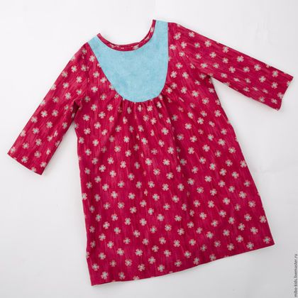 Одежда для девочек, ручной работы. Французское платье. Розовый и бирюзовый. Арт.0044. MiboKids. Интернет-магазин Ярмарка Мастеров. Цветочный