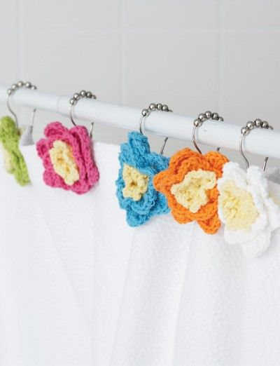 Shower Flowers - Patterns...sweet way to add color to a bathroom
