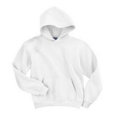 Youth Hooded Sweatshirt White Min 25 - A double needled stitching sweatshirt with a 1x1 athletic rib with spandex. http://www.promosxchange.com.au/youth-hooded-sweatshirt-white/p-5206.html