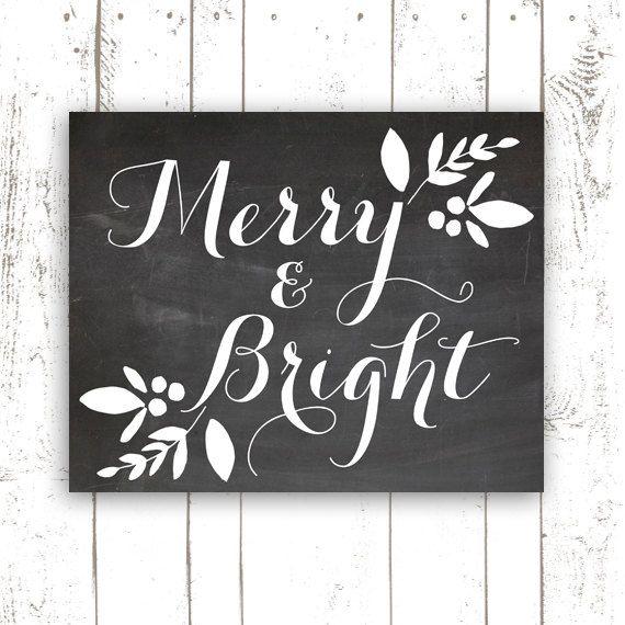Christmas Decor Chalkboard Art Printable by MooseberryPrintables