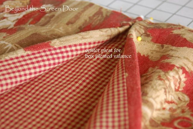 How To Make Your Own Board Mounted Box Pleated Valance | Beyond the Screen Door