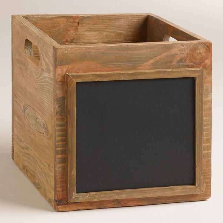 Wooden Owen Crate With Chalkboard World Market Wood