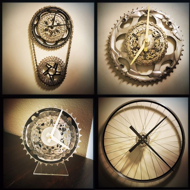 at www.DreamGreatDreams.etsy.com making gift for cyclists is another day at the workbench. each one is made with recycled bicycle parts so all this metal is saved from filling up our landfills.Dream Great Dreams, saving the planet one clock at a time.