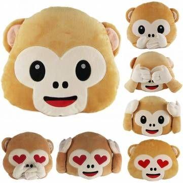 40cm Lovely Emoji Monkey Throw Pillow Plush Stuffed Cushion Office Home Sofa Decoration Gift - Banggood Mobile