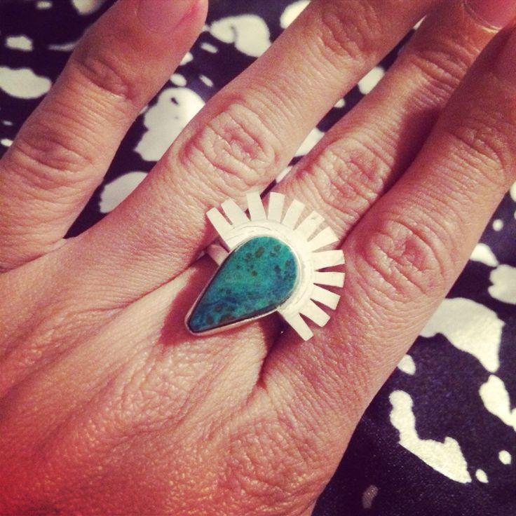 Peruvian #turquoise. #gypsy #boho #inca #winged #ring