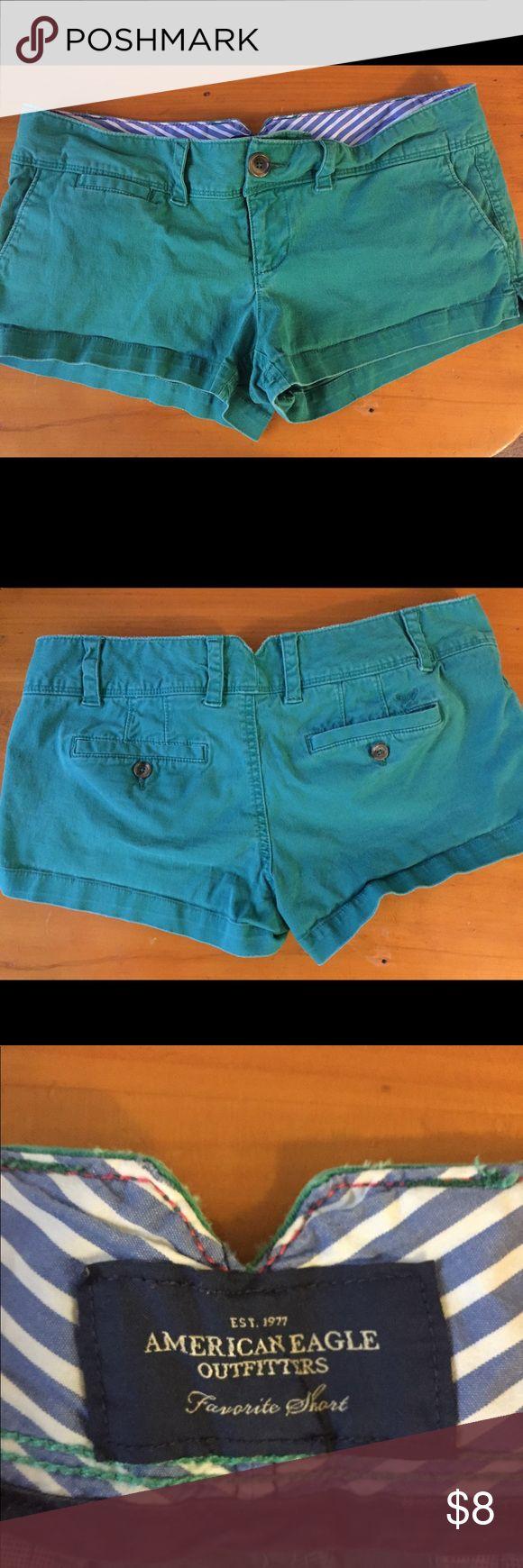 "American Eagle teal shorts AE ""favorite short"" shorts. Teal. Perfect for spring! American Eagle Outfitters Shorts"