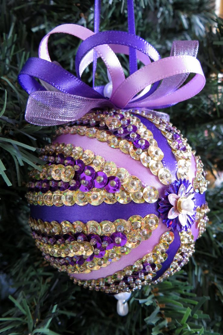 Lavender christmas ornaments - Sequined Christmas Ornament By Ornamentdesigns On Etsy
