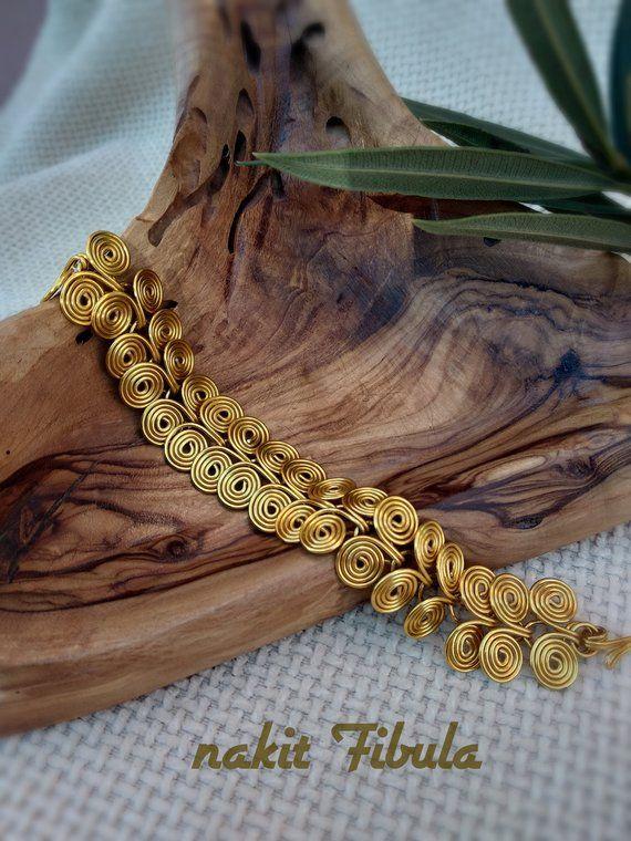Antique earrings Egyptian spiral earrings Wirewrapping earrings Jewelry for women Ladies earring Flower earringss