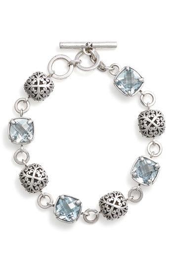 'Sky Blue Topaz' Toggle Bracelet... Just an idea of jewelry to make
