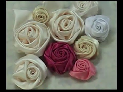 Кручёная роза из ткани (шифона). Мастер-класс. - YouTube