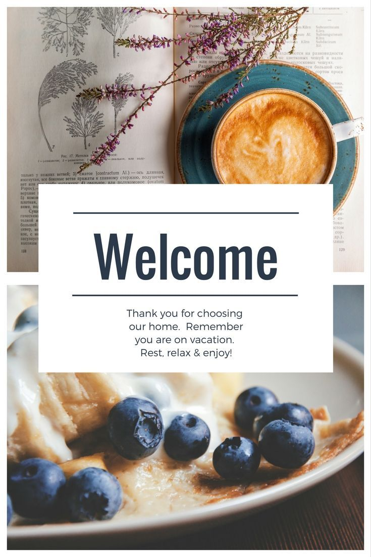 Easy, customizable vacation rental welcome book/letter for