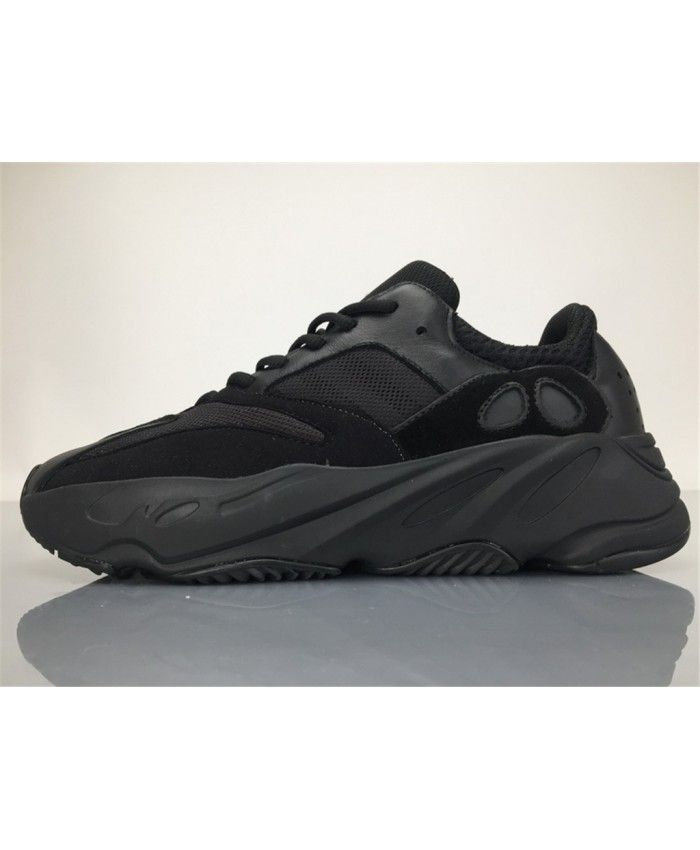 f5cb38f9ae927 Adidas Yezzy Boost 700 Wave Runner All Black Trainer
