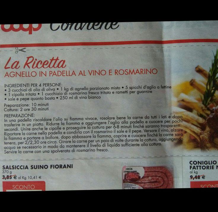 Agnello in padella al vino e rosmarino