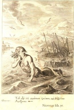 Merrows were both mermaids and mermen in Irish lore and legend. A male merman is depicted here and perhaps what a male merrow resembled according to Irish legend.