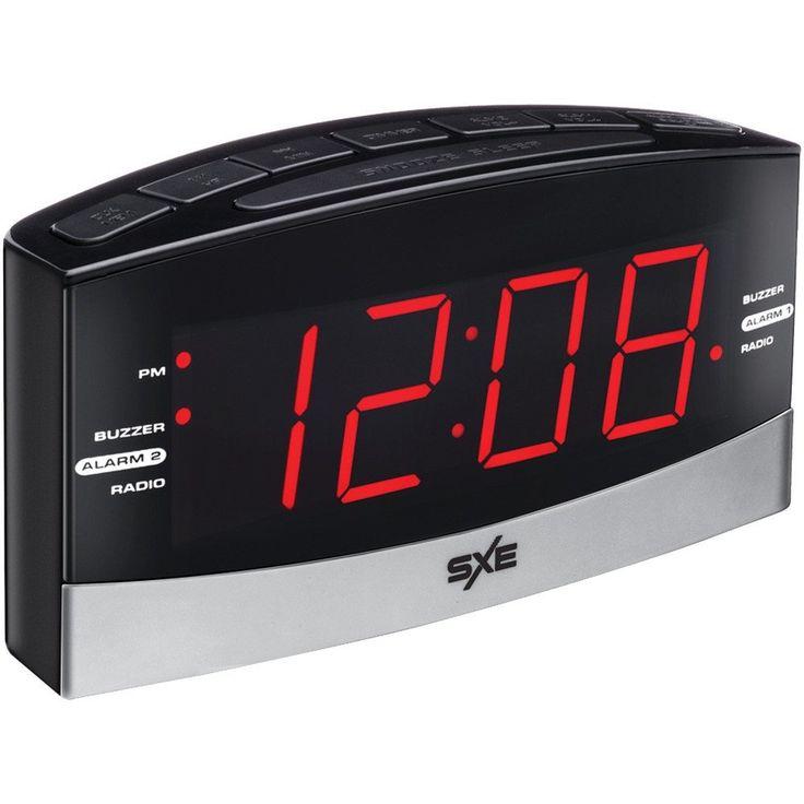 Sxe Large Display Am And Fm Dual Alarm Clock Radio – USMART NY