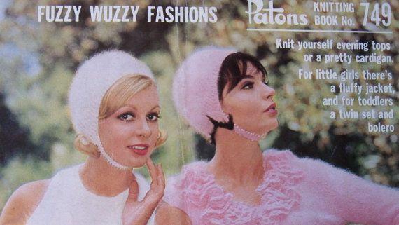 Groovy 1960's original vintage Patons knitting by Gladyswasagirl, $6.00