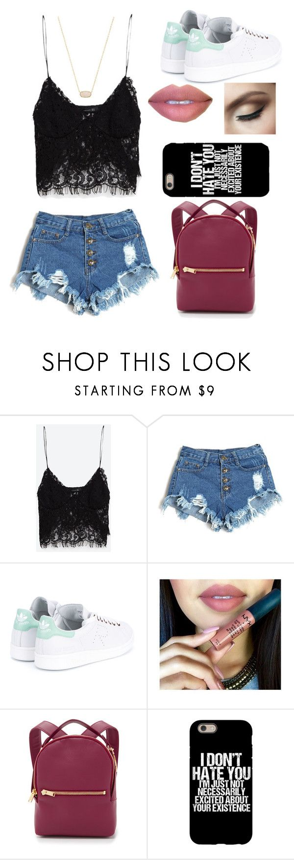 """Untitled #64"" by lauraederveen on Polyvore featuring Zara, adidas, Sophie Hulme and Kendra Scott"